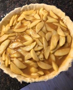 äppelkaka med honung